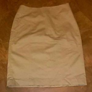 """New """"Anne Taylor Loft"""" Khaki Pencil Skirt SZ-6"""